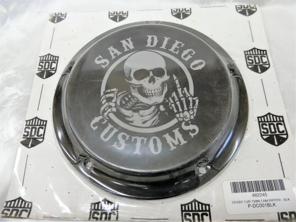 SANDIEGO CUSTOMS★RIPPER TC用ダービーカバー・BL
